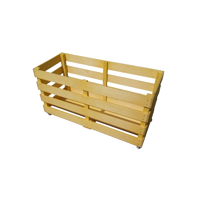 Контейнер (тележка) деревянный для спортинвентаря, на колесах