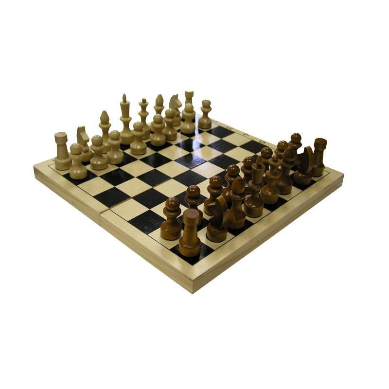 Шахматы обиходные лакированные с доской в Новосибирске