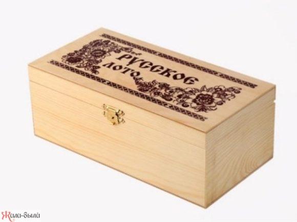 Лото в деревянной коробке