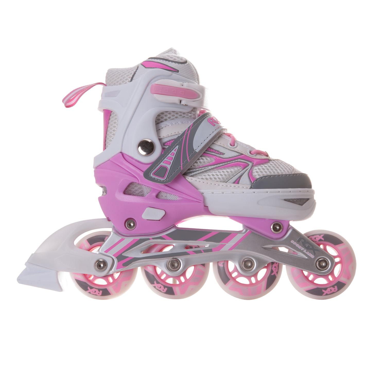 Роликовые раздвижные коньки RGX Fantasy pink